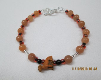 Golden Lab, Golden Retriever dog themed bracelet