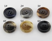 6 pcs 0.59~0.98 inch Matte Men Pattern 4 Hole Resin Shell Buttons for Suits