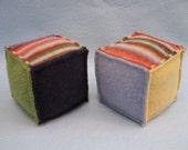 Felted Wool Blocks-Set of Two