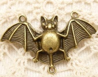 Large Bat Connector Pendant, Antique Bronze (2)