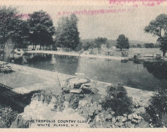 Vintage Antique Postcard - NEW YORK - Metropolis Country Club - White Plains - UNUSED