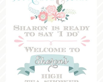 Bridal Shower / Tea Party Sign