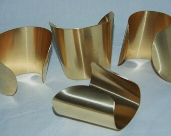 "Brass Bracelet Cuff Blanks Extra Wide Tapered 2.5"" Pkg Of 4"