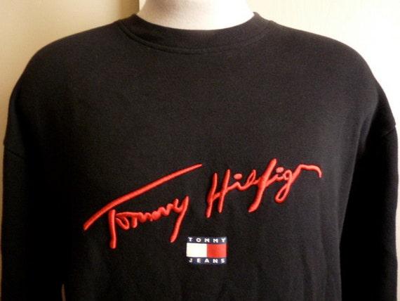 rsvd rm tommy hilfiger tommy jeans embroidered signature logo. Black Bedroom Furniture Sets. Home Design Ideas
