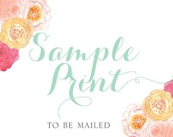 Sample Invitation Print