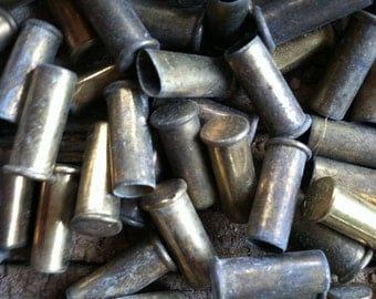 Bullet shells/casings small shiny brass gold color bullet shells, beading, craft, junk, and jewlery supplies