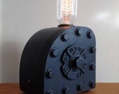 Steam Punk Science Industrial Lamp, Machine Age,  Edison Lamp. Cool gifts for men.