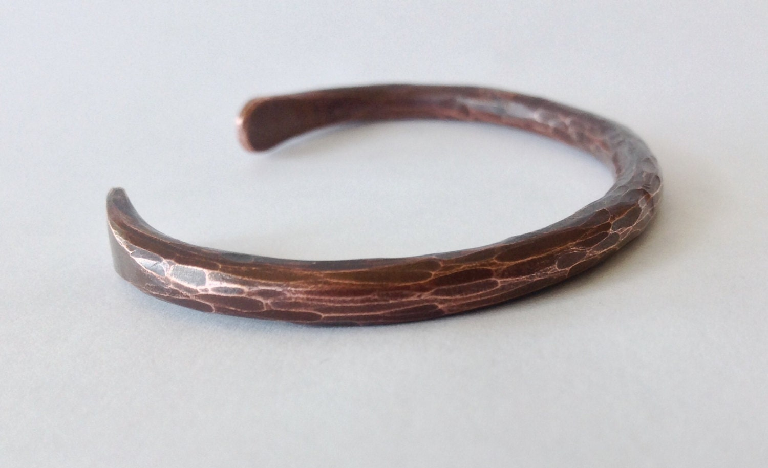 Hand forged copper bracelet size medium by