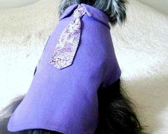 Dog Shirt, Dog Necktie, Dog Clothing, Small Dog  Clothes, Small Dog  Shirt, Dog Apparel, Dog Clothes, Toy Dog Clothes, , Teacup Dog Clothes