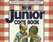 New Junior Cook Book, Better Homes and Gardens, Vintage Cook Book, Kids Cook Book