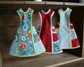 Set of 3 Vintage Style Miniature Aprons