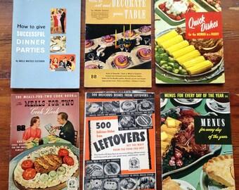 Vintage Cookbooks Paper, 1940s, 1950s, 1960s - Paper Grapics & Illustration