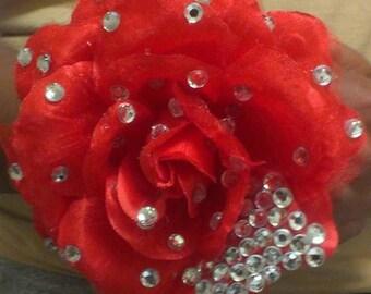 Red Blinged Rose
