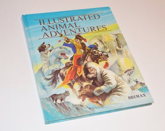 Illustrated Animal Adventures - Children's Stories - Hard Cover - Vintage - 1980's