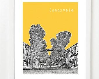 Sunnyvale California Art - Sunnyvale CA Art Poster - Housewarming Gift