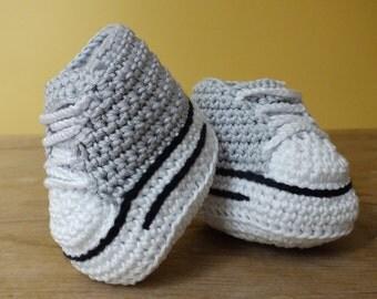Hightop Sneaker Boots - Instant Download PDF Crochet Pattern