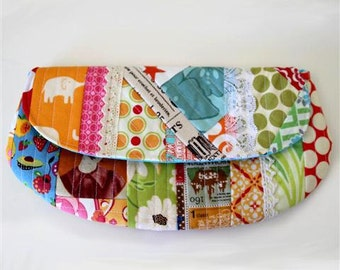 Scrappy Quilt as You Go Pouch Pattern