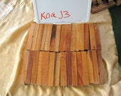 "Koa Hawaiian Pen Blanks Turning Wood Blanks (30) Total) Ave 6""  x 1"" x 1"" (#J3"