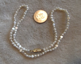 Vtg Necklace-White FRESH Water Pearls-N511