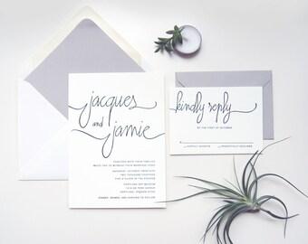 LETTERPRESS SAMPLE  |  Modern Calligraphy Suite  |  letterpress wedding invitation  |  calligraphy  |  simple  |  weddings  |  invitation