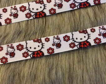 "Cat 7/8"" Grosgrain Ribbon"