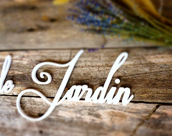 Sign Le Jardin French word Sign for garden Wooden letters