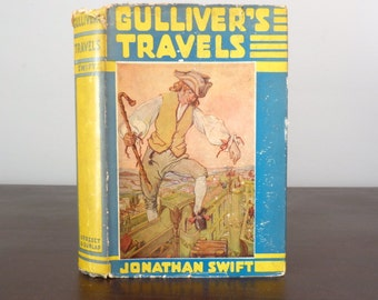Vintage Gulliver's Travels - Jonathan Swift - Vintage Book