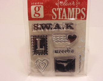 S.W.A.K. clear stamp set, 15-40 mm (HR13)
