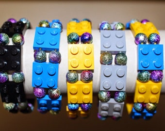 Lego Bracelet Metallic Color Beads