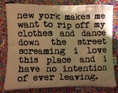 sometimes i want to rip my clothes off and dance new york pouch
