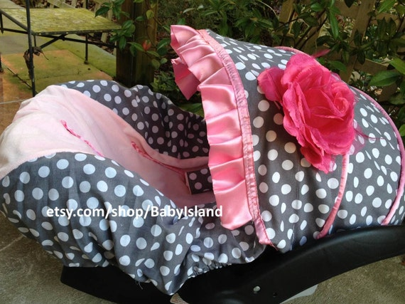 Baby Girl Infant Car Seats: Items Similar To Baby Car Seat Cover Canopy, Infant Car