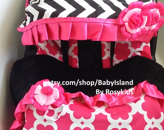 Baby Car Seat Cover Canopy Blanket Infant Car Seat Cover Canopy Blanket Chevy Floral & Car Seat Cover - Rosy Kids