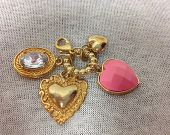 Vintage Goldtone Heart Keychain