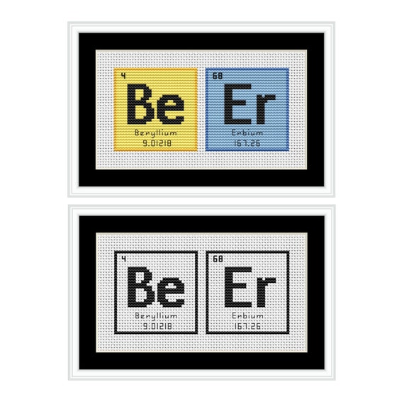 Beer periodic table chemical element pdf cross stitch chart urtaz Gallery