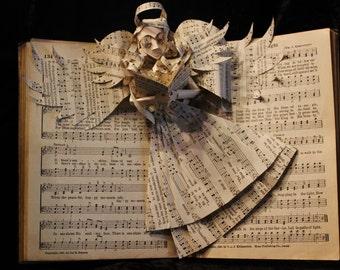 Hymnal Angel Book Sculpture