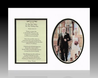 Wedding To My Step-Father Personalized Poem  Bride Groom Bridal Party Gift