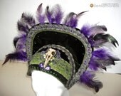 Art Nouveau Headdress, Whimsical Fantasy Hair Style, LARP, Wiccan ritual wedding