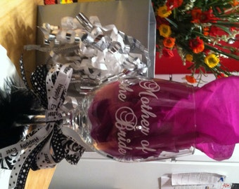 Custom Christmas Vinyl Wine Glass Decals - Custom vinyl decals for wine glasses