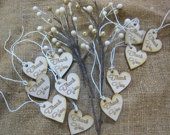 Additional 50 Wooden Thank You Hearts