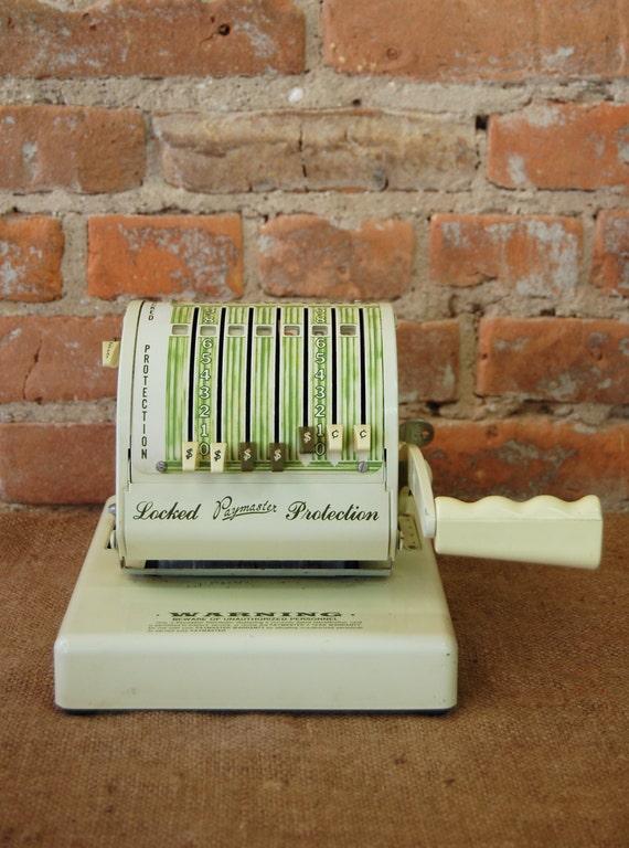 vintage paymaster machine