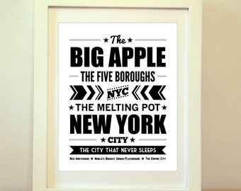 City and State Prints