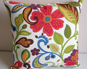 Floral Pillow, Paisley Pillow, Outdoor Pillow, Wildwood Pillow, Richloom Wildwood, Tropical Pillow, Colorful Pillow, Decorative Pillow