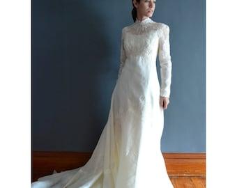 Rime / 70s wedding dress / 1970s wedding dress