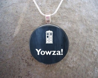 Doctor Who Jewelry - Yowza - Glass Pendant Necklace - 2016