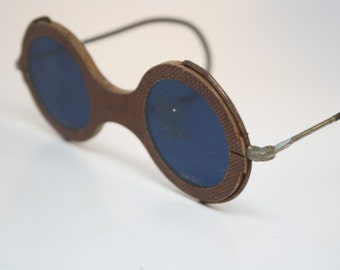 Vintage Eyeglasses Cobalt Blue Vintage Safety Glasses safety goggles