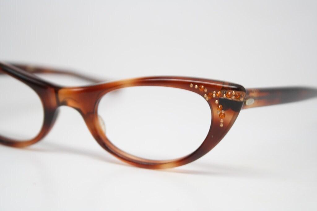 Vintage Eyeglass Frames Etsy : Small Tortoise Retro Glasses Vintage Eyeglass Frames