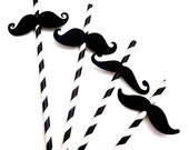 12 Imperial Mustache Moustache Straw Birthday Party Gender Reveal Little Man Paper Photo Prop Wedding Favors Decoration cardstock black