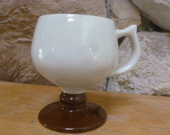 Hall 2274 Footed pedestal mug Brown Foot