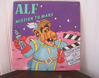 Vintage Alf Mission to Mars softcover book, aliens, 80's TV