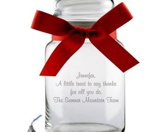 Glassy Candy Jar